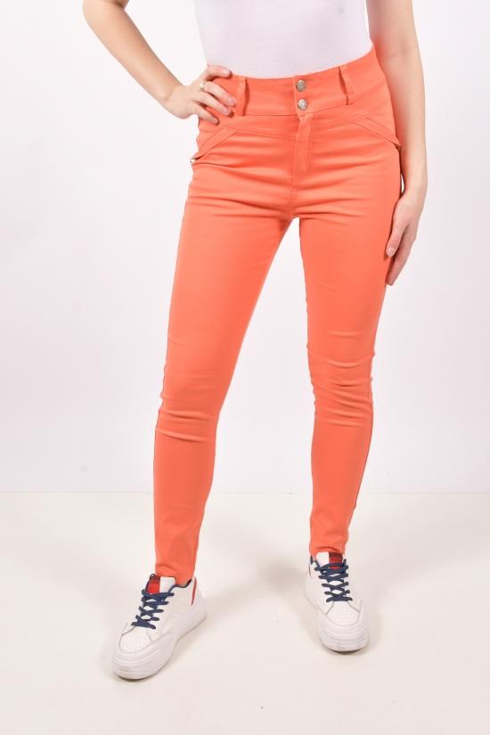 Брюки женские (цв.оранжевый) стрейчевые  END GREEN Размеры в наличии : 40,42,44,46 арт.0663