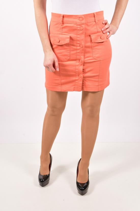 Юбка женская (цв.оранжевый) стрейчевая END GREEN Размеры в наличии : 40,42,44,46 арт.19006