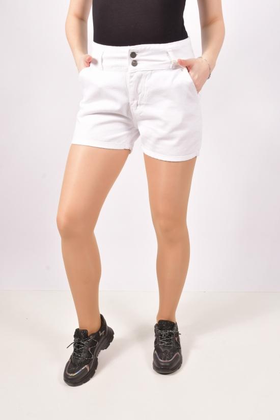 Шорты женские джинсовые (col. Beyaz) NEW LENZA Размеры в наличии : 27,28,29,30,31 арт.303