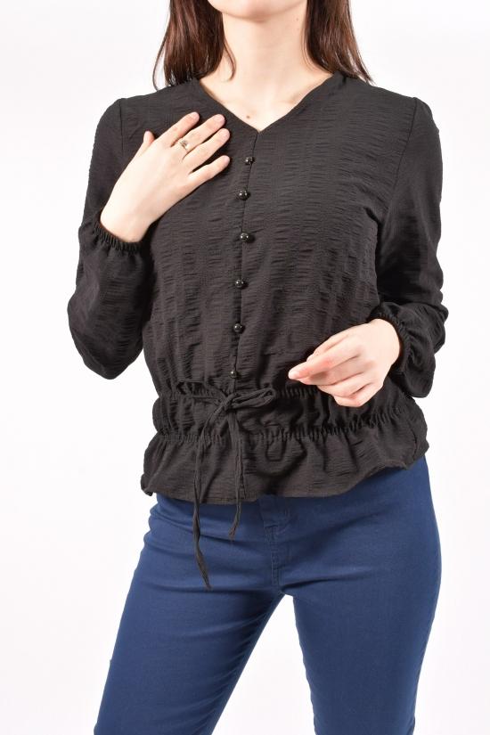 Блузка женская (цв.черный) HISSET Размеры в наличии : 40,42,44,46 арт.A5278