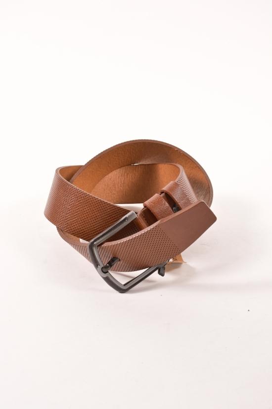 Ремень мужской кожаный (цв.коричневый) Guard ширина 4,5см. арт.K-133