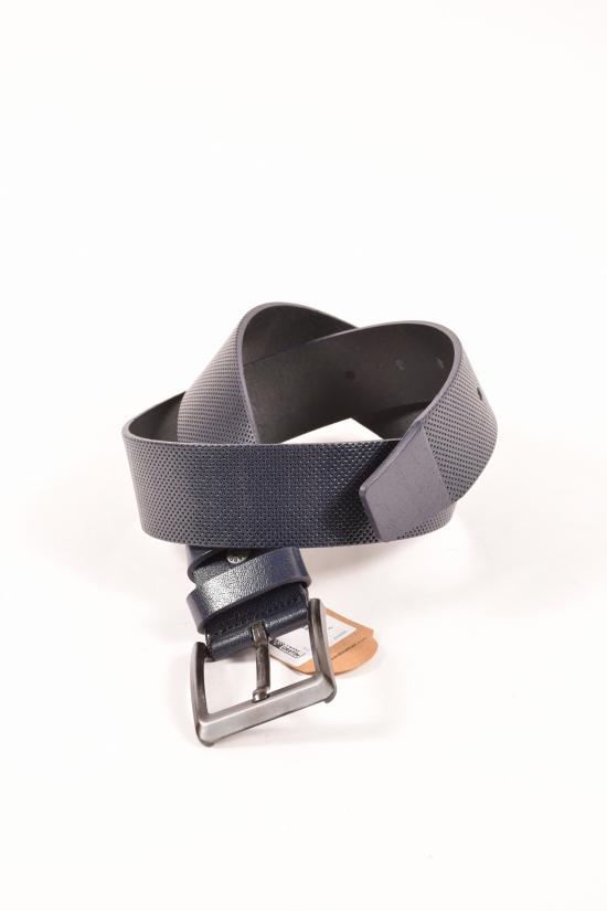 Ремень мужской кожаный (цв.т/синий) Guard ширина 4,5см. арт.K-133