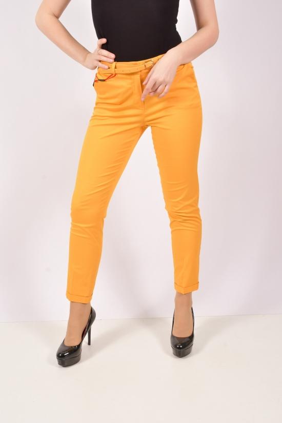 Брюки женские стрейчевые (цв.жёлтый) Silvia Размеры в наличии : 44,46,48,50,52 арт.3137