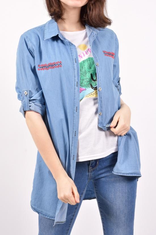 Рубашка + футболка женская (цв.голубой) MODA SHEN Размеры в наличии : 38,40,42,44 арт.ILOVEBAG