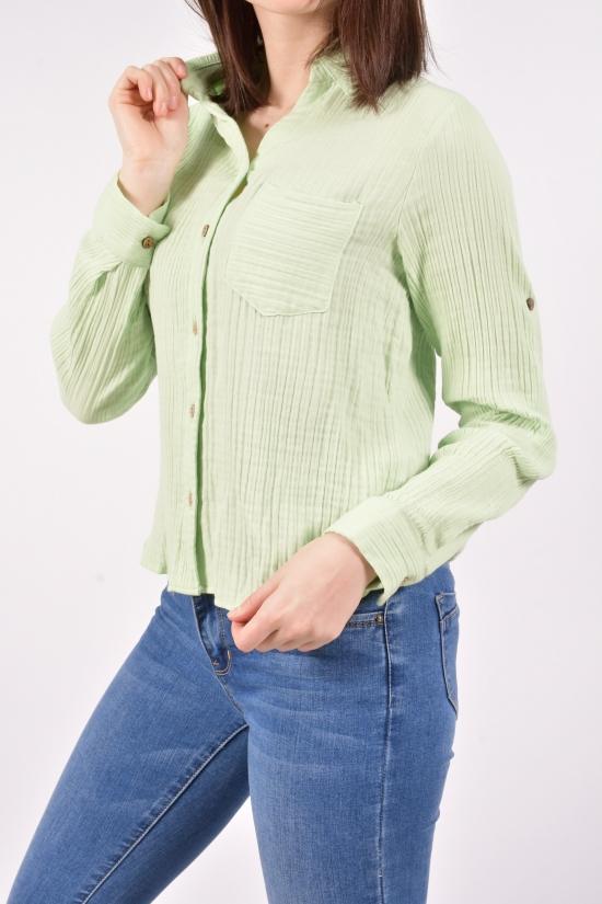 Рубашка женская (цв.мяты) BLUE SPACE Размеры в наличии : 42,44,46,48 арт.6968