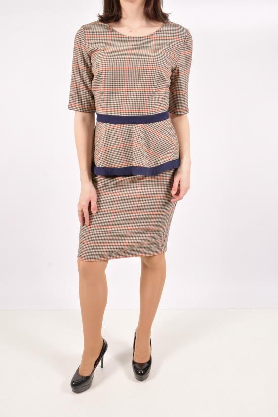 Платье женское (цв.св.коричневый) WIND Размеры в наличии : 42, 44, 46 арт.048-1016