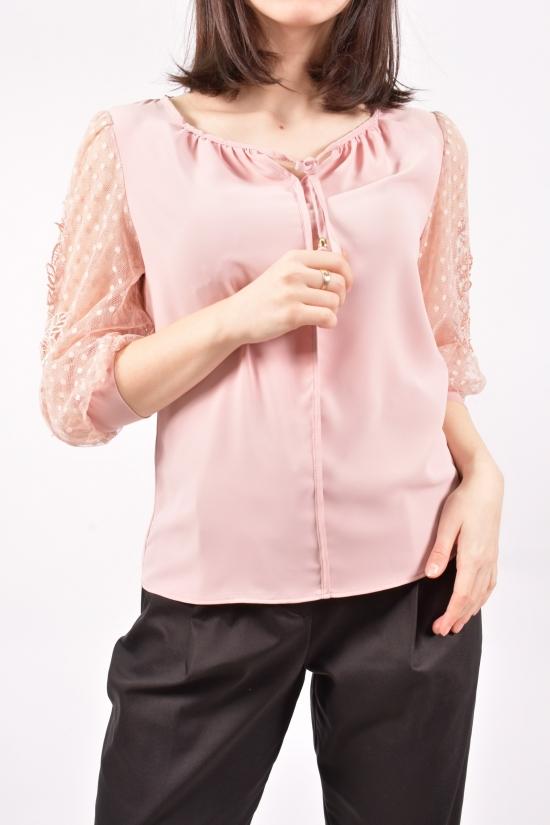 Блузка женская шифоновая (цв.пудры) Размеры в наличии : 42,46,48 арт.9082