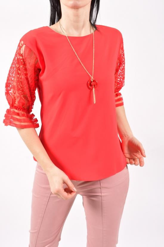 Блузка женская шифоновая (цв.красный) Размеры в наличии : 40,42 арт.8793/1