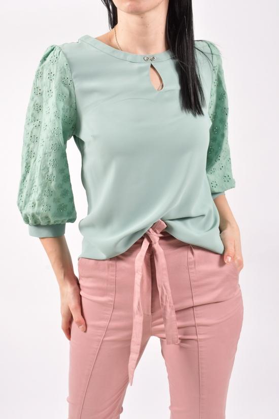 Блузка женская шифоновая (цв.мяты) Размеры в наличии : 42,44,46 арт.9035