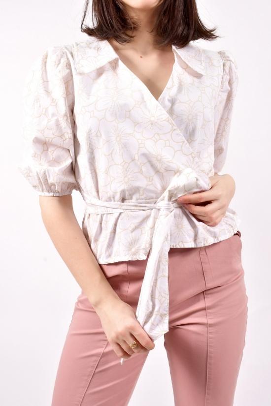 Блузка женская (цв.белый) Размеры в наличии : 40,42,44 арт.21180