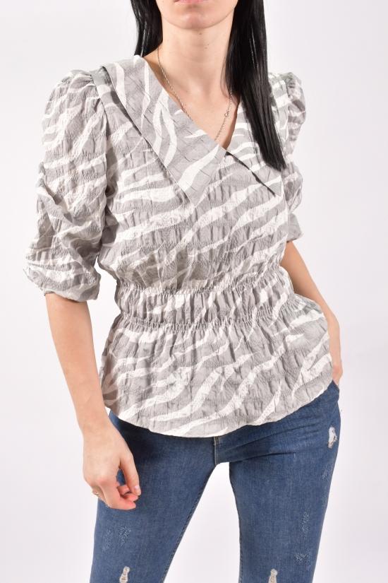 Блузка женская (цв.серый) Размеры в наличии : 40,42,44 арт.21143