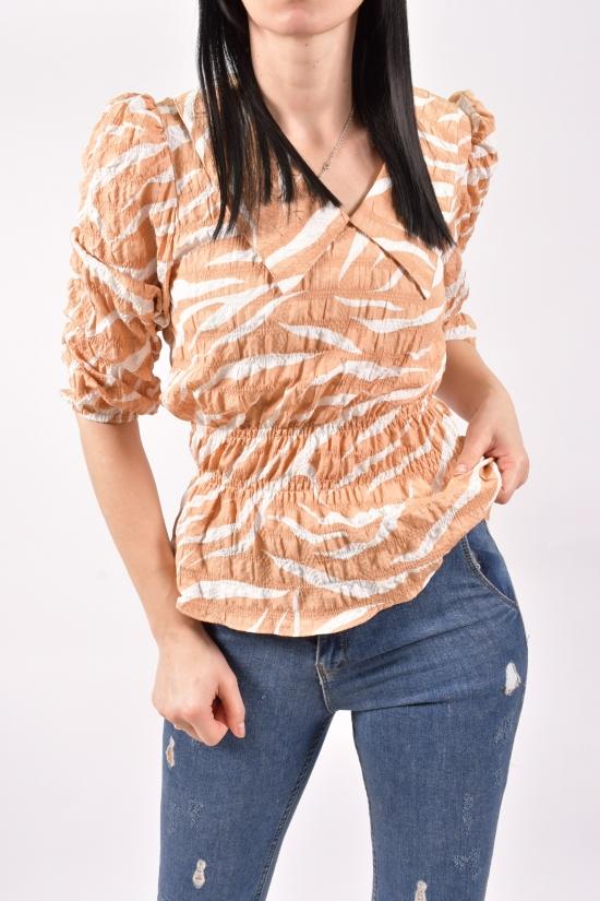 Блузка женская (цв.коричневый) Размеры в наличии : 40,42,44 арт.21143