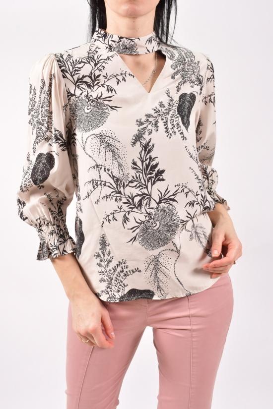 Блузка женская (цв.кремовый) Размеры в наличии : 40,42,44,46 арт.30054