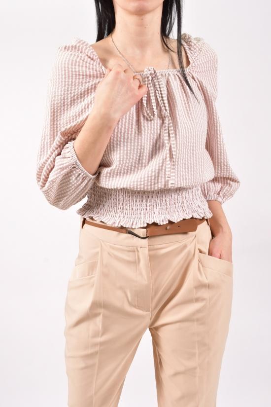 Блузка женская (цв.кремовый) Размеры в наличии : 40,42,44 арт.30038