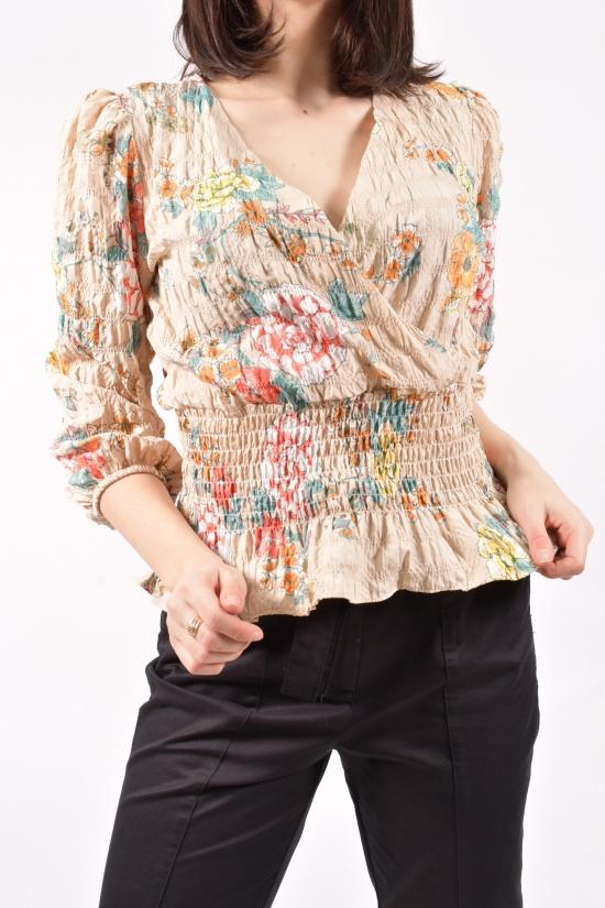 Блузка женская (цв.кремовый) Размеры в наличии : 40,42,44 арт.30034