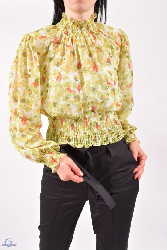 Блузка женская (цв.салатовый) шифоновая Размеры в наличии : 40,42,44 арт.30011K4