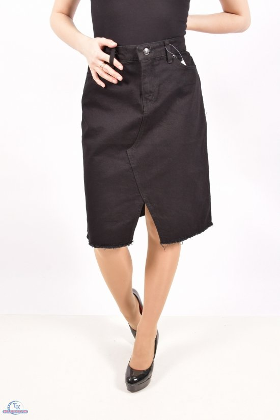 Юбка джинсовая женская (цв.чёрный) Размеры в наличии : 42,44,46,48 арт.A2237