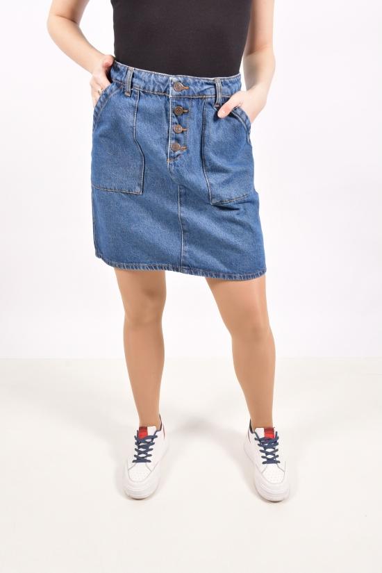 Юбка джинсовая женская (цв.т.синий) Размеры в наличии : 40,42,44,46 арт.A2185