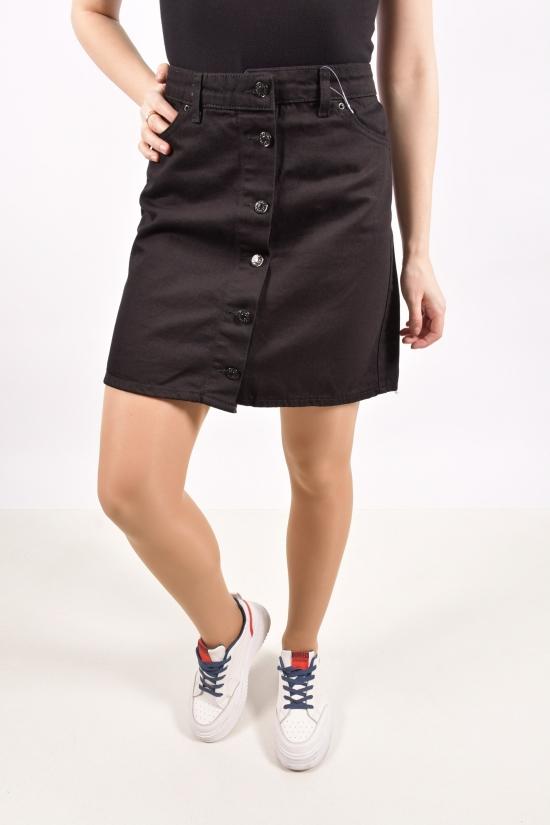 Юбка джинсовая женская (цв.чёрный) Размеры в наличии : 40,42,44,46 арт.A2264
