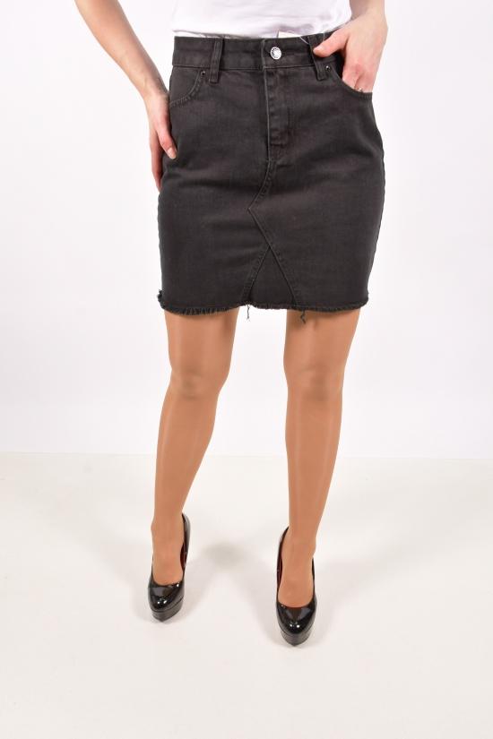 Юбка джинсовая женская (цв.чёрный) Размеры в наличии : 40,42,44,46 арт.A2021