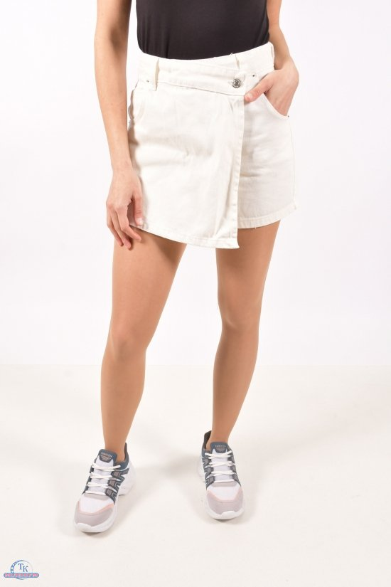 Юбка-шорты женская джинсовая (цв.R136) Размеры в наличии : 34,36,38,40 арт.8017