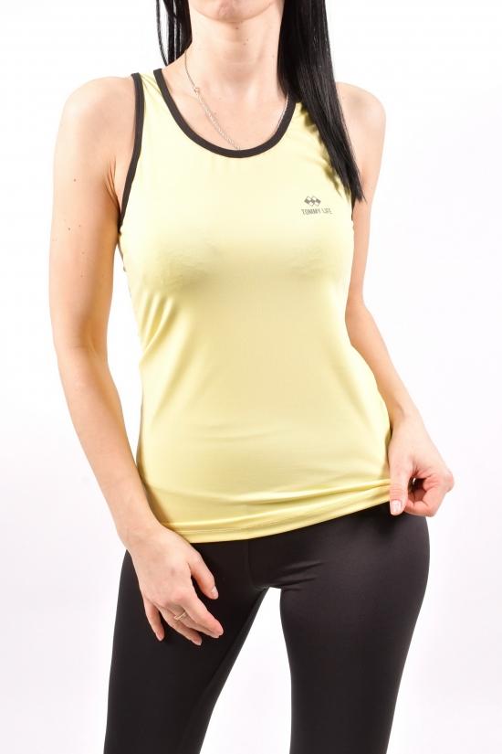 Майка спортивная женская (цв.желтый) эластан Размеры в наличии : 42,44,46,48 арт.T06BY-97094