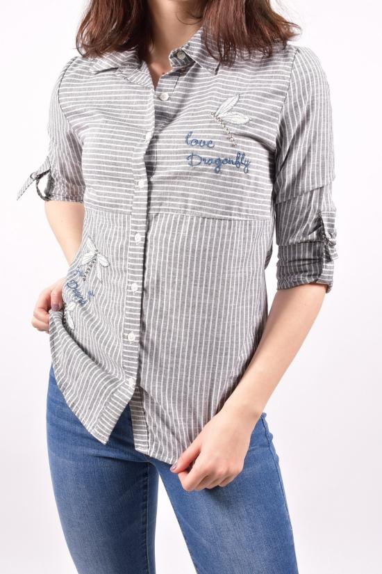 Рубашка женская (цв.серый) Размеры в наличии : 42,44,46,48 арт.16224