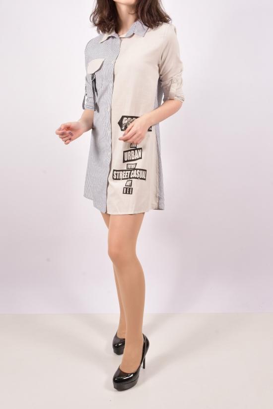Рубашка-туника женская (цв.св.серый) Размеры в наличии : 42, 44, 46, 48 арт.16221