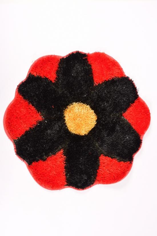Коврик травка (цв.черный/красный) размер 70/70см арт.2020-0220