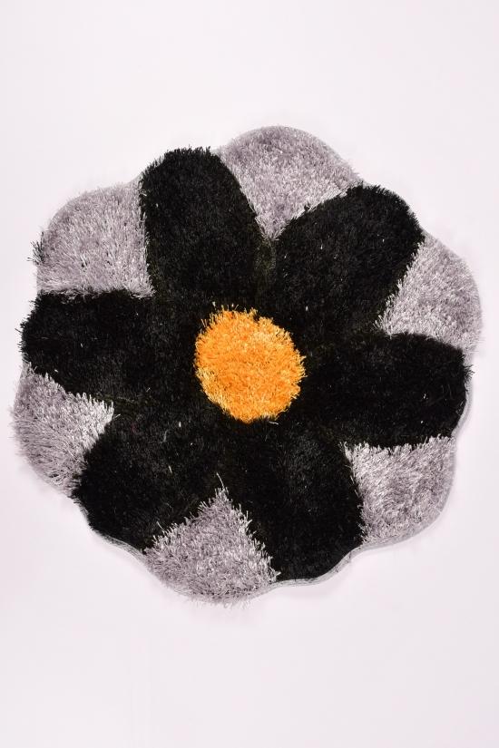 Коврик травка (цв.черный/серый) размер 70/70см арт.2020-0220