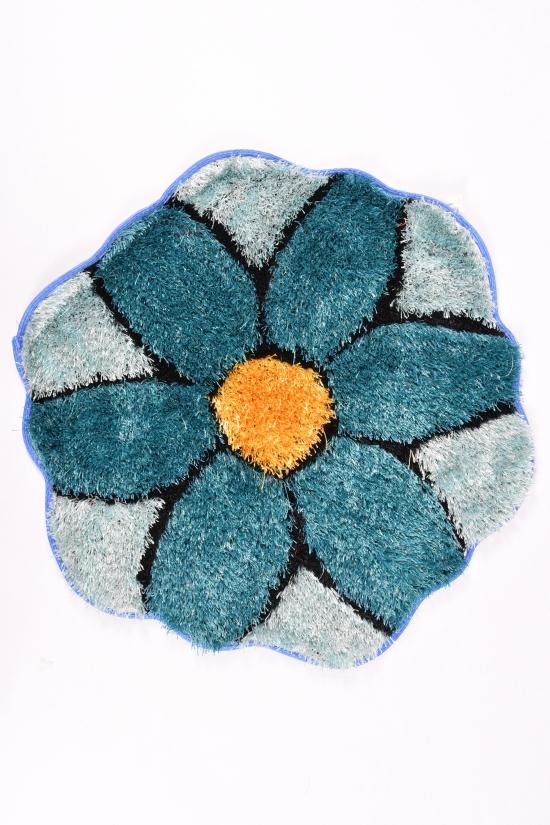 Коврик травка (цв.синий) размер 70/70см арт.2020-0220