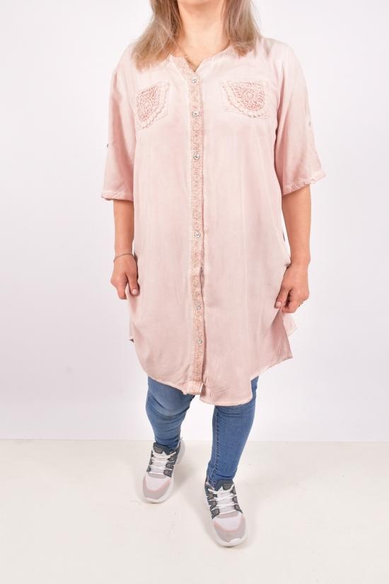 Рубашка-туника женская (цв.пудры) Размеры в наличии : 48, 50, 52, 54, 56 арт.9056