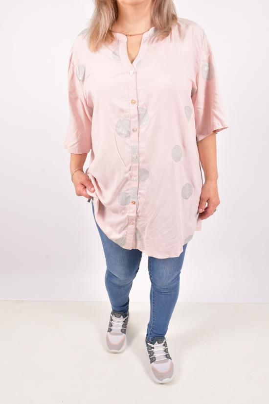 Блуза женская (цв.пудры) Размеры в наличии : 50,52,54,56,58 арт.C-27052