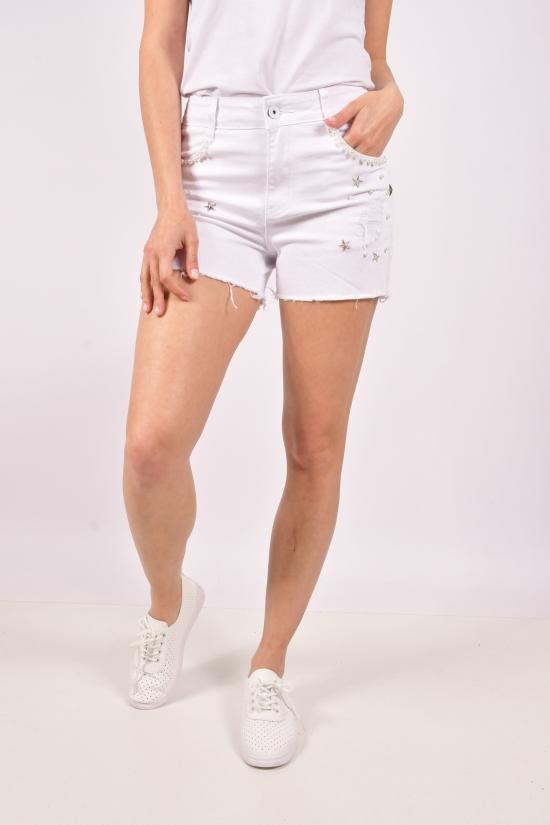 Шорты женские джинсовые стрейчевые Размеры в наличии : 25,26,27,28,29,30 арт.K-5144-1