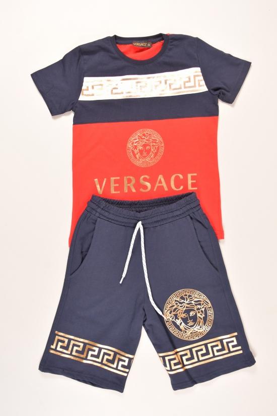 Костюм для мальчика трикотажный (цв.красный) VERSACE Роста в наличии : 122,128,134,140,146 арт.058