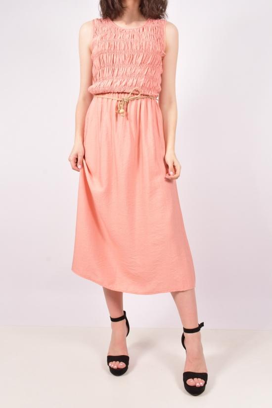 """Платье женское из ткани лён (цв.розовый) """"Karon"""" Размеры в наличии : 40,42,44,46 арт.9889"""