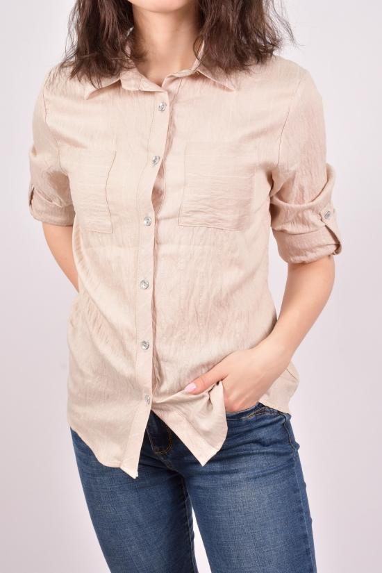 """Рубашка женская (цв.кремовый) """"Madoy"""" Размеры в наличии : 40,42,46 арт.5158"""