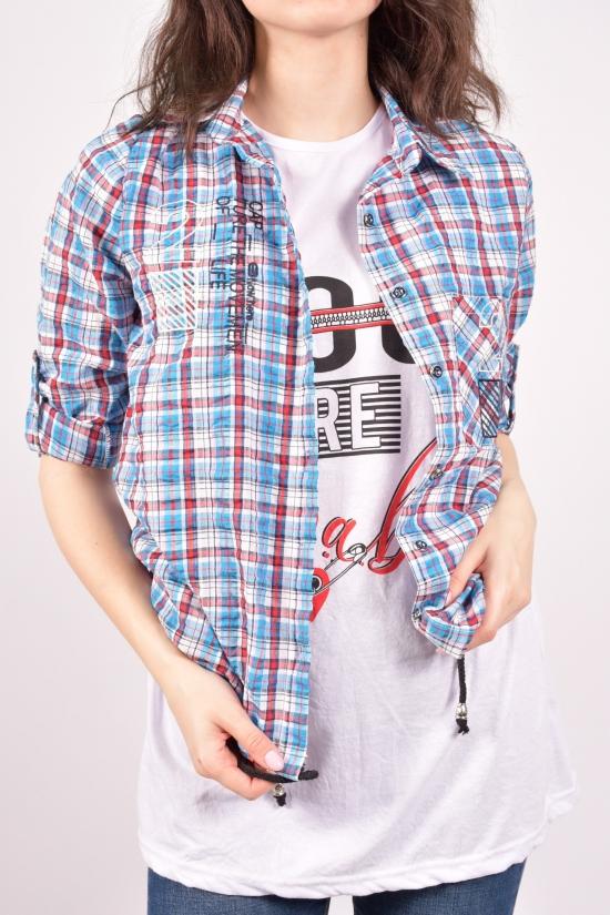 """Рубашка женская с футболкой """"Madoy"""" Размеры в наличии : 40,42,44,46 арт.2010"""