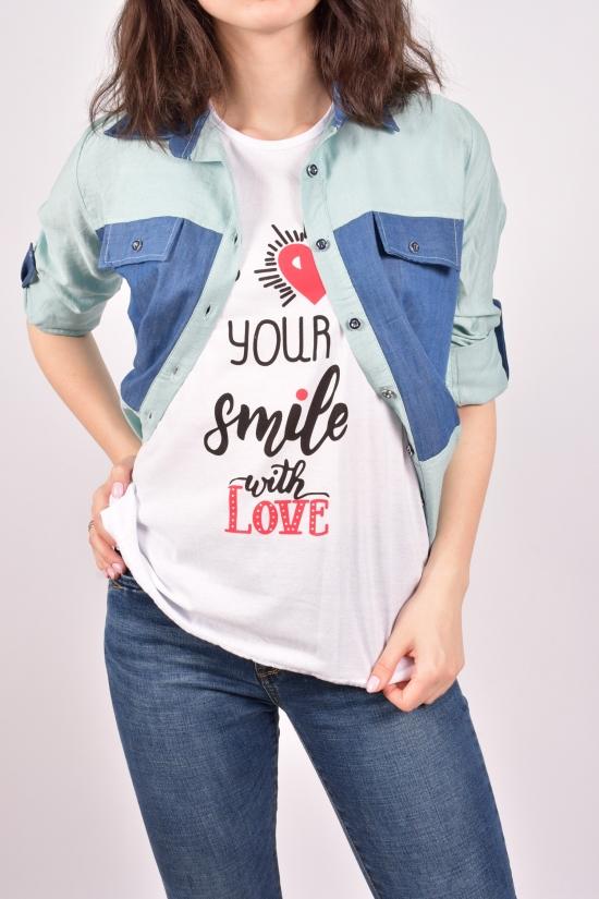 """Рубашка женская с футболкой (цв.мяты) """"Madoy"""" Размеры в наличии : 40,42,44,46 арт.2074"""