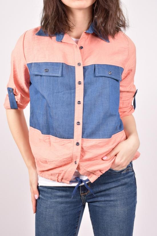 """Рубашка женская с футболкой (цв.пудры) """"Madoy"""" Размеры в наличии : 40,42,44,46 арт.2086"""