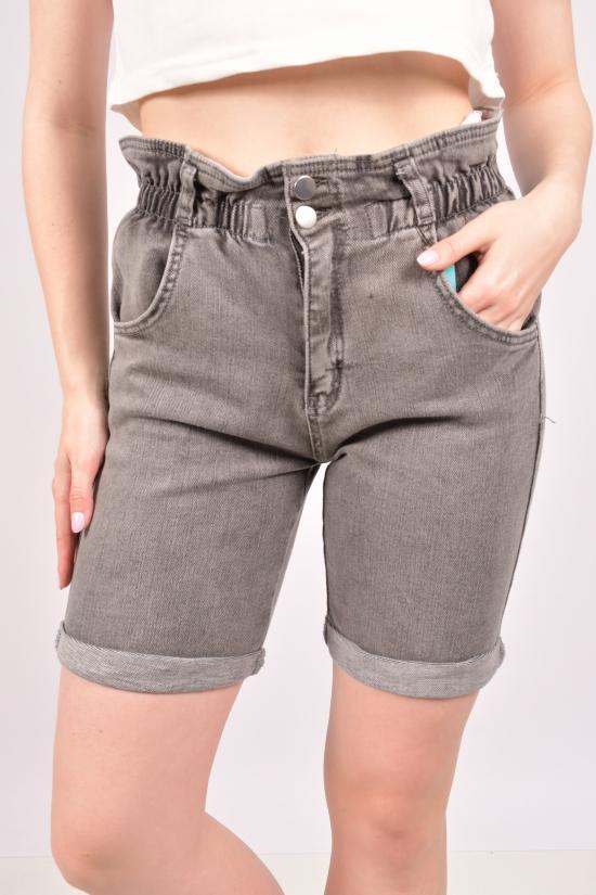 Шорты женские джинсовые стрейчевые (цв.серый) Big Nas Размеры в наличии : 26,27,28,29,30,31,32 арт.721