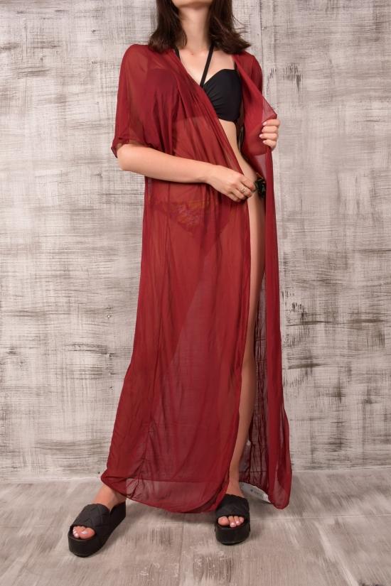 Накидка женская (цв.бордовый) SELL Размеры в наличии : 42,44,48 арт.317093