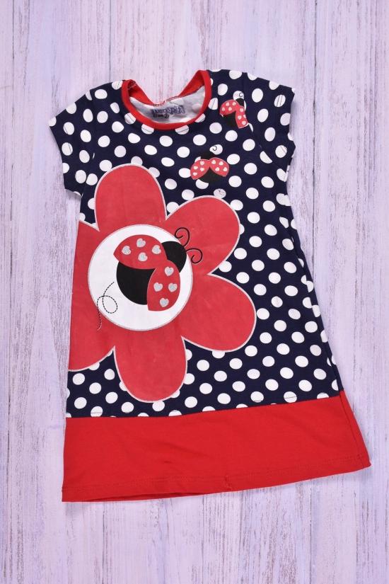Платье для девочки трикотажное (цв.т.синий/красный) MINIPITI Рост в наличии : 92, 98, 104 арт.331182