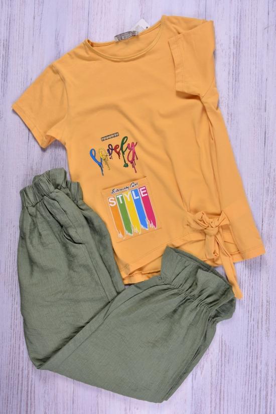 Костюм для девочки трикотажный (цв.горчичный/хаки) BEREN style Роста в наличии : 146,152,158,164,170 арт.3211