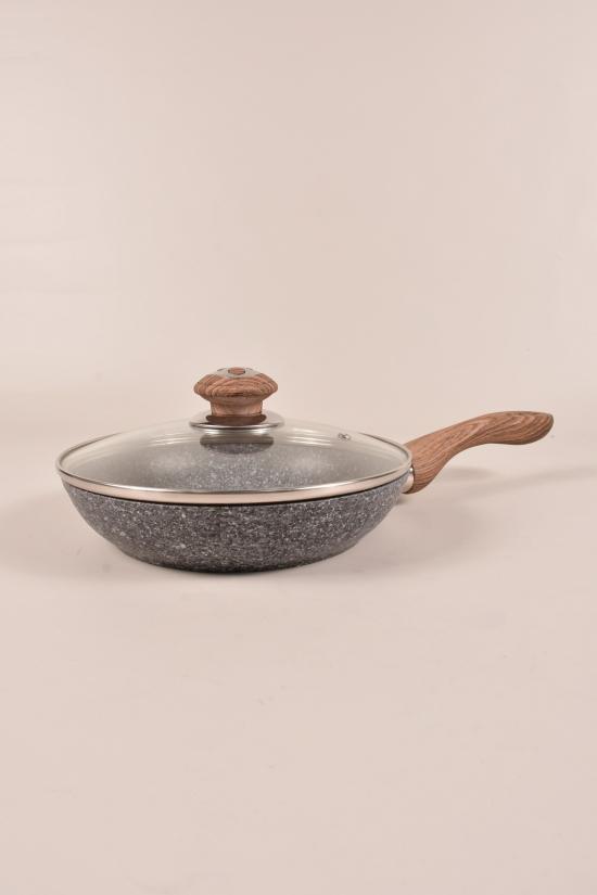 Сковорода с крышкой (гранитное покрытие d-22см) Benson арт.BN-541