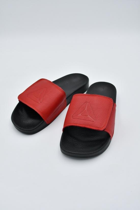 Шлепанцы мужские из натуральной кожи (цв.красный) REEBOK Размеры в наличии : 40,42,44,45 арт.R20