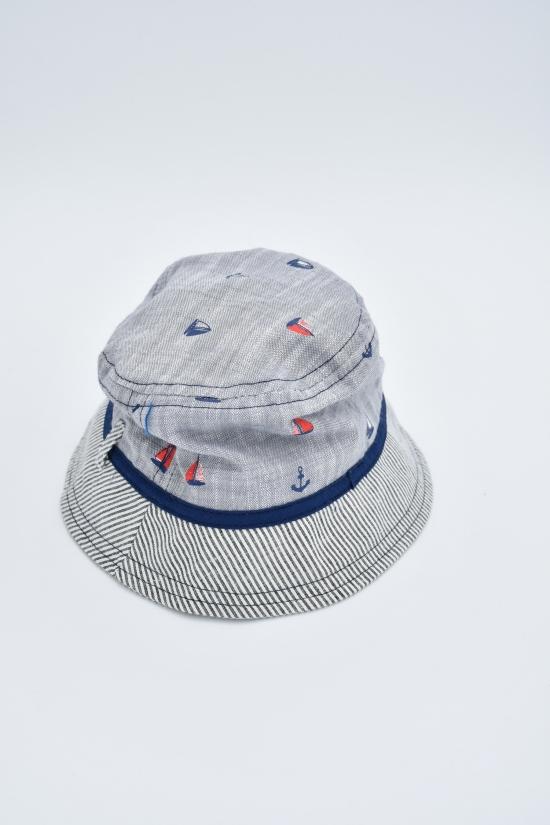 Панамка для мальчика (цв.серый) окружность головы 48 арт.611430