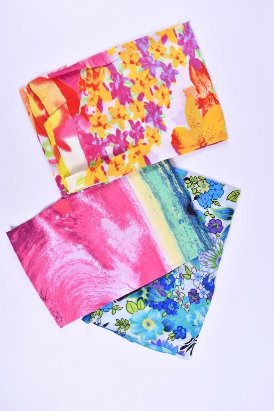Парео пляжное (ткань жатка) размер 140/100 см. арт.41