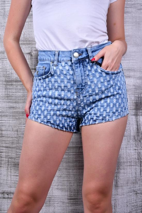 Шорты женские джинсовые стрейчевые LOUIS VUITTON Размеры в наличии : 27,28,29,30,31 арт.3087-196