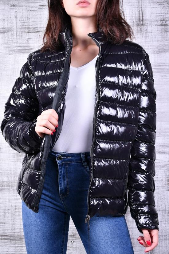 Куртка демисезонная женская (цв.чёрный) Размеры в наличии : 46,48,50,52,54 арт.MOOSE